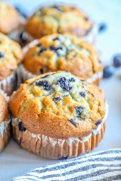 Jumbo Blueberry Muffin Recipe, Simple Muffin Recipe, Blueberry Bread, Blueberry Recipes, Blue Berry Muffins, Blueberries Muffins, Jumbo Muffins, Blueberry Breakfast, Meals