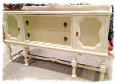 Annie Sloan old white and country grey....vintage sideboard