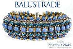 Download a PDF copy of the pattern and instructions for the Balustrade bracelet by TrendSetter Nichole Starman. This 12-page PDF includes large full-color photographs and detailed illustrations. This dimensional bracelet is suitable for Intermediate to Advanced beaders. The thread path within this bracelet is designed to utilize the structure and flexibility inherent in the CzechMates system. The file includes additional tips and tricks on stitching with the CzechMates 2-Hole Beading System…
