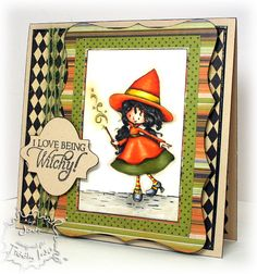 Welcome to our newest challenge: a Halloween Surprise - Creepy Cute! Make sure to create a NEW project using a Tiddly Inks image. Halloween Drawings, Halloween Cards, Tiddly Inks, Ink Stamps, Creepy Cute, Diy Cards, Handmade Christmas, Color Patterns, Christmas Cards