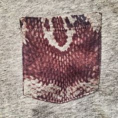 Inko dye on only a pocket