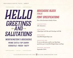 Boucherie Block Italic by Laura Worthington on @creativemarket
