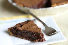 gooey brownie pie with graham cracker crust