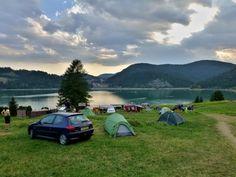 Palcmanská Maša water reservoir and camping, Dedinky, Slovak Paradise National Park, Slovakia