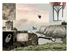 Escape With Vintage Vogue by weelambievintage on Polyvore featuring WALL, vintage, etsy and vogueteam