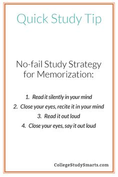 College Discover Quick Study Tips - No-fail Strategy for Memorization - College Study Smarts Need to remember dates facts and vocab for your next exam? This simple strategy works every time. Motivation Examen, Exam Motivation, Study Motivation Quotes, Study Quotes, Motivational Quotes For Exams, Motivation For Studying, College Motivation, Study Tips For High School, Life Hacks For School