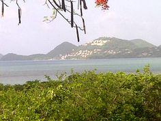 View of Windjammer Landing from Vigie Beach in St. Lucia