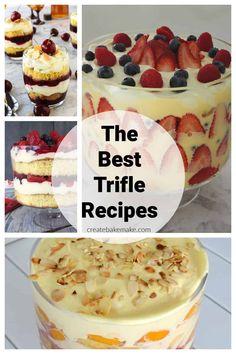 Easy Berry Trifle Recipe, Trifle Bowl Recipes, Cake Mix Recipes, Dessert Recipes, Easy Recipes, Salad Recipes, Fruit Trifle Desserts, Fancy Desserts, Sweets