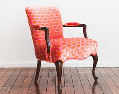 Refurbished Vintage Accent Chair Camel Back by JessicaAllynDesigns