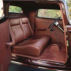Automotive Upholstery, Car Upholstery, Custom Car Interior, Truck Interior, Chevy Motors, Jeep Wagoneer, Old Race Cars, Truck Art, Hot Rod Trucks