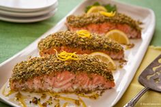 Pistachio Crusted Salmon from FoodNetwork.com