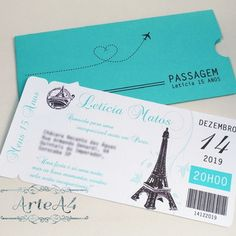 Paris Birthday, Quinceanera Party, Ideas Para Fiestas, Paris Theme, I Party, Sweet Sixteen, Invitations, Cards, Wedding