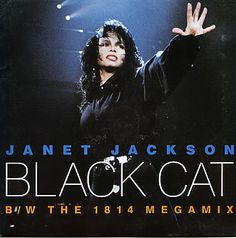 "For Sale - Janet Jackson Black Cat UK  7"" vinyl single (7 inch record) - See this and 250,000 other rare & vintage vinyl records, singles, LPs & CDs at http://eil.com"