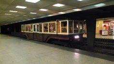 retro underground car in Budapest