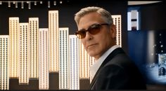 George Clooney wearing Persol PO3043-S 24/57 in the new Nespresso ad! - www.vingerhoets-optics.be