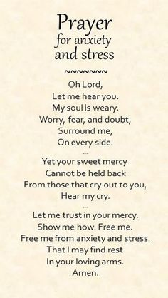 Prayer for anxiety and stress... - Wanda Crawford - Google+