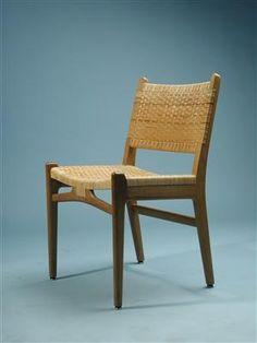 Hans Wegner; #31 Teak and Cane Sidechair  for Carl Hansen, 1950s.