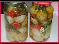 APRENDA COMO FAZER CONSERVA CASEIRA DE CEBOLA canal aprendiz - YouTube Pickles, Canning Recipes, Cucumber, Vegetables, Lima, Cooking, Ethnic Recipes, Desserts, Food