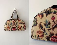 60s floral tapestry purse / 1960s tapestry bag by RellikVintageCo, $64.00