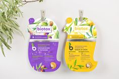 #Plastic #packaging for Biotox: clear containers allow consumers to see the product inside, which is a lovely light hue that matches the label.