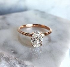 Single Stone Oval diamond engagement ring and diamond wedding ring,Oval Cut Diamond Engagement Ring #singlediamondengagementrings