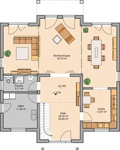 house plan Kern-Haus Stadtvilla Karat Floor plan ground floor If you are planning on doing a lot of Architecture Résidentielle, Education Architecture, Commercial Architecture, Best Office, Villa Plan, House Floor Plans, Ground Floor, Plan Tree, Office Plan