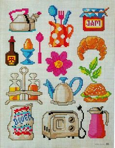 This Pin was discovered by fil Cross Stitch Kitchen, Cross Stitch Love, Cross Stitch Alphabet, Funny Cross Stitch Patterns, Cross Stitch Designs, Cross Stitching, Cross Stitch Embroidery, Beading Patterns, Embroidery Patterns