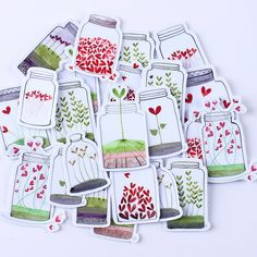 26pcs Self-made Drift Bottle Plant Bottles Scrapbooking Stickers DIY Craft DIY Sticker Pakc Photo Albums Deco Diary Deco