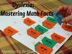 Dyslexia: Mastering Math - Abundant Life- Really like the math it game shown, too. Math It from Rainbow Resource