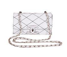 002b7c119af Chanel Flap Shoulder Bag Sheepskin Leather A67019 White -  199.00 Online  Discount Stores