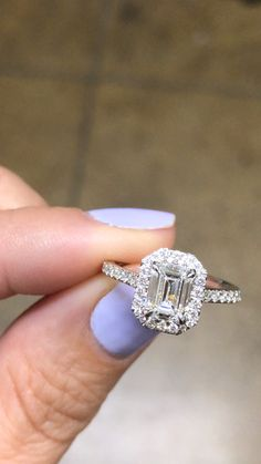 Vallie The vintage inspired Vallie features a stunning carat emerald cut diamond surrounded by 2 Carat Engagement Ring, Vintage Engagement Rings, Emerald Cut Engagement Rings, Shop Engagement Rings, Gold Diamond Wedding Band, Diamond Bands, 5 Carat Diamond Ring, Ring Set, Ring Verlobung