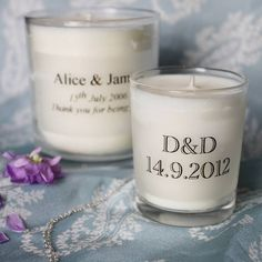 Make personalised wedding candles Wedding Crafts, Wedding Favours, Diy Wedding, Wedding Ideas, Wedding Bells, Wedding Inspiration, Personalized Candles, Personalized Wedding, Essential Oil Candles