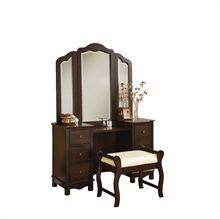 Espresso Finish Vanity Stool & Mirror Vanity Stool, Espresso, Mirror, Furniture, Home Decor, Espresso Coffee, Decoration Home, Room Decor, Mirrors
