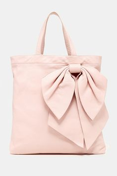 RED Valentino Leather Shopping Bag