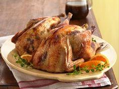 Orange-Roasted Pheasants Recipe from Betty Crocker