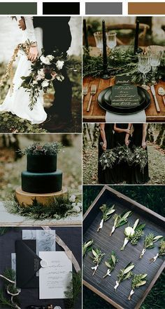 Black Gold Wedding olive and black winter woodsy wedding color ideas - When it comes to the wedding planning part, the first thing couples have to decide is the wedding colors, which helps create an atmosphere and. Wedding Aisles, Woodsy Wedding, Fall Wedding, Dream Wedding, Burgundy Wedding, Wedding Black, Wedding Receptions, Elegant Wedding, Casual Wedding