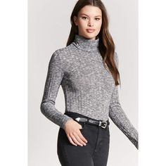 74fd7848af Forever21 Ribbed Turtleneck Top ( 11) ❤ liked on Polyvore featuring tops