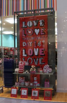 Love valentines window