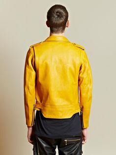 Blackmeans Men's Biker Leather Jacket   LN-CC