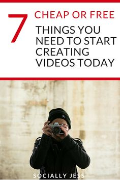 7 (Cheap or Free) Things You Need to Start Creating Videos Today - you need to be creating videos for your blog or business to stay ahead of the game and your competition but you don't need expensive equipment to get started. Here's how you can start making videos and vlogs today on a budget, with just a few inexpensive or free things you need to make high-quality videos.