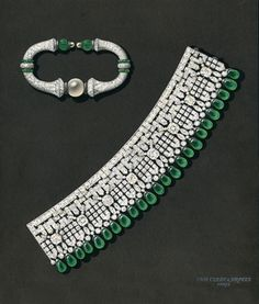 Manchette bracelet & rigid bracelet drawing, 1925, Van Cleef & Arpels' Archives