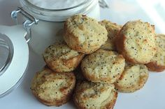 Lemon Poppyseed Muffins - I prefer coconut oil rather than butter in this recipe, and have always omitted the lemon zest.