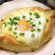 Chaczapuri adżarskie Polish Recipes, Antipasto, Good Food, Food And Drink, Appetizers, Eggs, Cheese, Baking, Breakfast