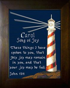 Carol - Name Blessings Personalized Cross Stitch Design from Joyful Expressions Cross Stitch Designs, Cross Stitch Patterns, Decorating With Sticks, Carol Songs, Lacing Cards, Scented Sachets, Cross Stitch Embroidery, Embroidery Patterns, Ways To Recycle