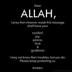 Please keep protecting us. Ameen.