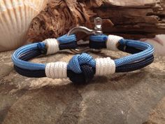 Sailor's Love Knot with Whipped Ends and Stainless Steel Shackle -- available for sale at paraspirit.etsy.com