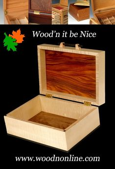 Custom wood box highlighting contrasting beautiful woods. A great gift idea that will be functional while enhancing any room it sits in. #woodjewelry box #woodbox #keepsakebox 5th Wedding Anniversary, Aesthetic Design, Wood Boxes, Custom Wood, Keepsake Boxes, Woods, Great Gifts, Elegant, Nice