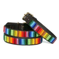 Over The Rainbow Beaded Dog Collar