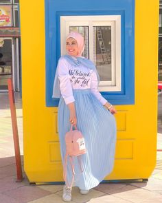 Which Style you Like The Most , leave your Comment Below🌊 . Modest Fashion Hijab, Modern Hijab Fashion, Hijab Fashion Inspiration, Islamic Fashion, Muslim Fashion, Mode Inspiration, Skirt Fashion, Fashion Outfits, Fancy Dress Design