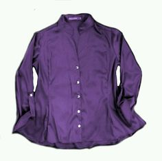 Camisa cetim roxa